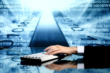 businessman input data information on keyboard Stock Photo - 8666829