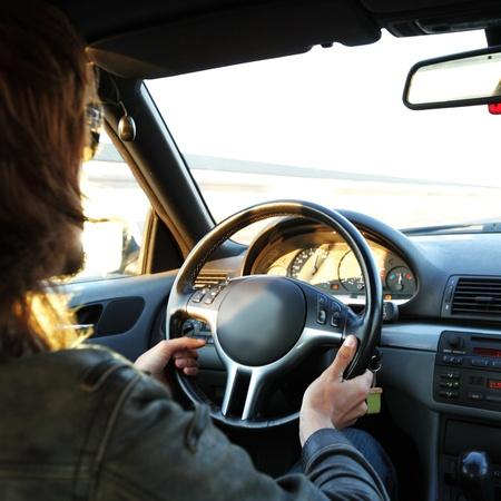 driver drive a car fast photo