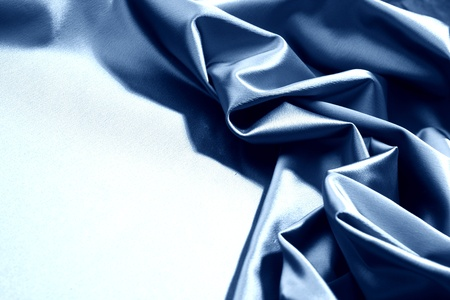 blue satin background closse up photo