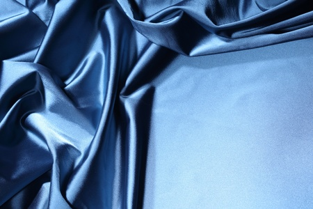 blue satin background closse up Stock Photo - 8678439