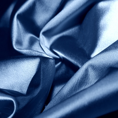 blue satin background closse up photo
