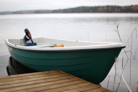 boat in lake nature background photo
