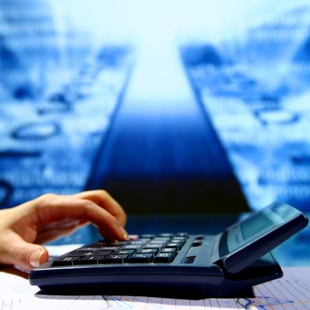 businessman data info technology concept photo