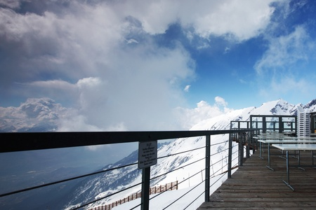 caffe on the top mountain Stock Photo - 8740045
