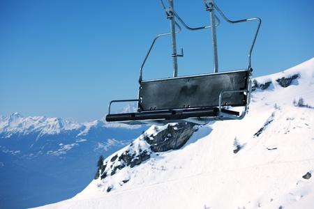 elevator ski mountains on background Stock Photo - 8743397