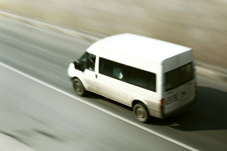 speed car drive blurred inmotion Stock Photo - 8743394