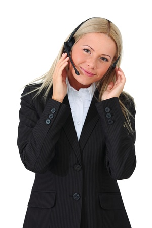 business woman speak with headset Stock Photo - 8743720
