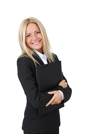 sexy business women: business woman portrait isolated close up Stock Photo