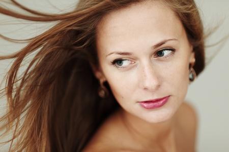 woman studio close up portrait photo