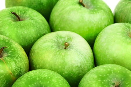 green apple background macro close up photo