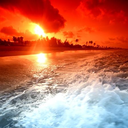 landscapes: landscape ocean sunrice golden sky