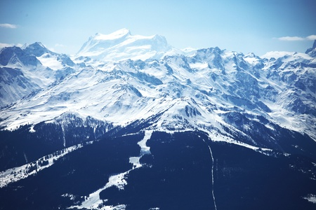 top of mountains in blue sky Stock Photo - 8744295