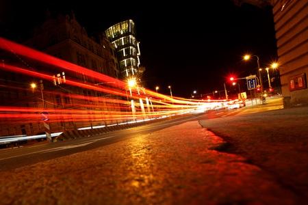 night city lights on street Stock Photo - 8746075