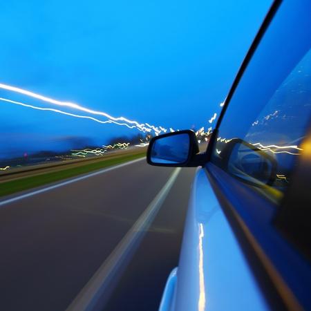 night drive on car Stock Photo - 8746081
