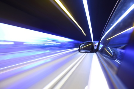 faster: night drive on car