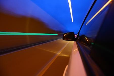 night drive on car Stock Photo - 8746170