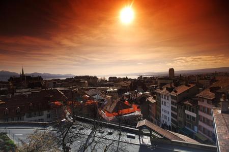 lausanne cityscape close up photo