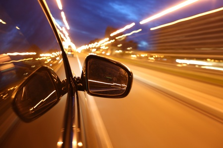 night drive blussed in motion Stock Photo - 8751487