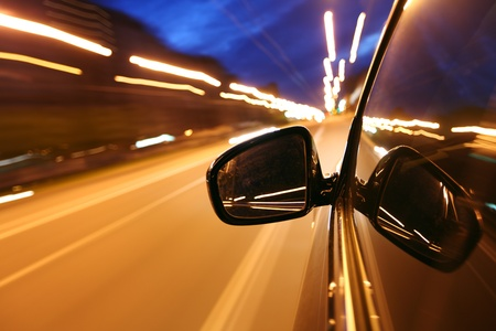 night drive blussed in motion Stock Photo - 8751378
