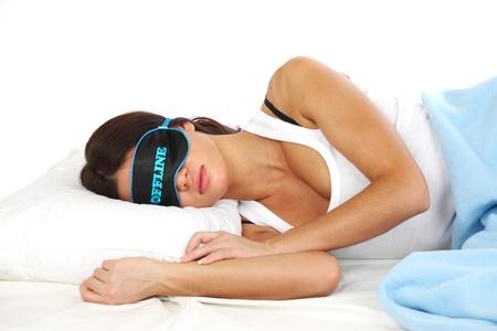 offline beauty woman sleep on the pillow Stock Photo - 8751225