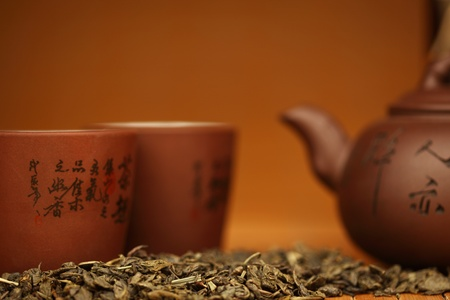 chinese tea ceremony:  china tea background close up