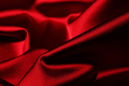 red satin background close up Stock Photo - 8751982