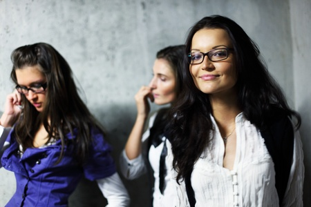 very funny laughing girlfriends Meeting photo
