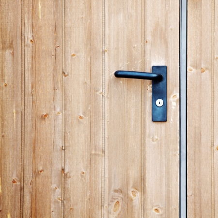 doorhandle on the door close up Stock Photo - 8821897