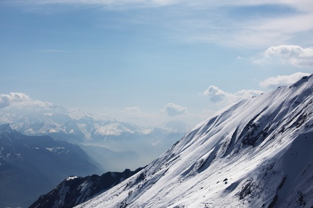 top of mountains in blue sky Stock Photo - 8824547