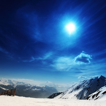 top of mountains in blue sky Stock Photo - 8819843