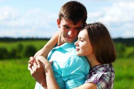 love hug of two lowers Stock Photo - 8917351