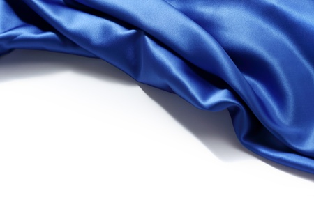 blue silk background close up isolated Stock Photo - 8917445