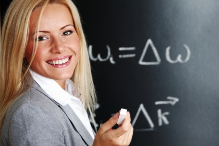 teacher draw condition of phase synchronism Stock Photo - 9007027