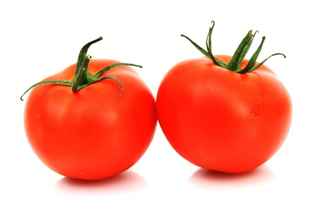 tomato pile slice isolated on white photo