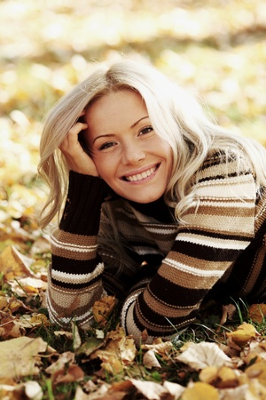 autumn woman portret in park Stock Photo - 9007024
