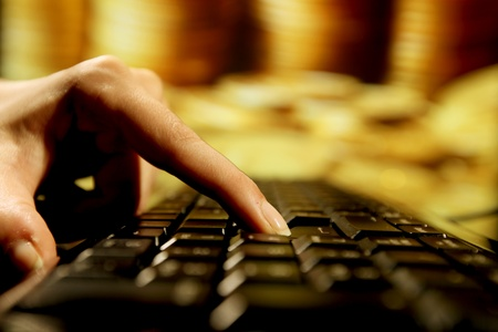 programmer have confirmation of golden deposit buy Stock Photo - 9067931