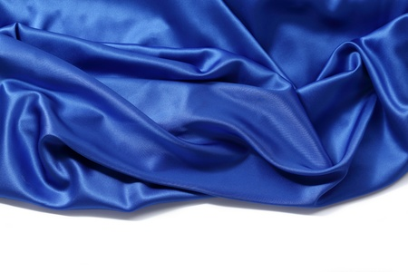 blue silk background close up isolated Stock Photo - 9127957
