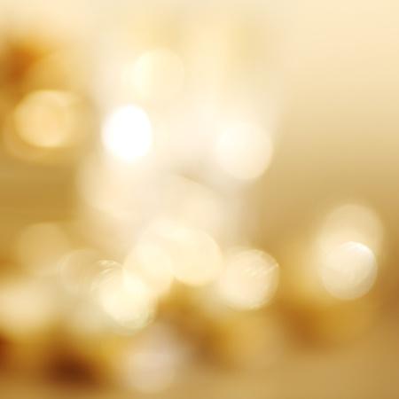 golden bokeh background close up Stock Photo