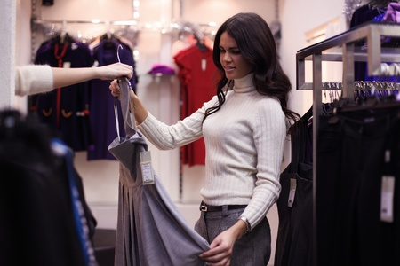 woman in dress room wear dress Stock Photo - 9174693
