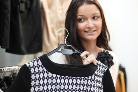 woman in dress room wear dress photo