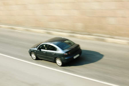 speed car drive blurred inmotion Stock Photo - 9206788