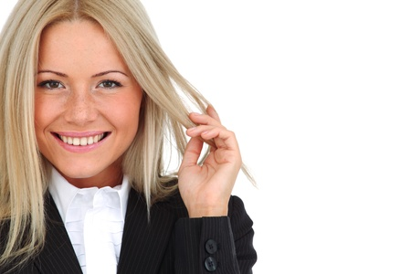 business woman portrait isolated close up Stock Photo - 9207912