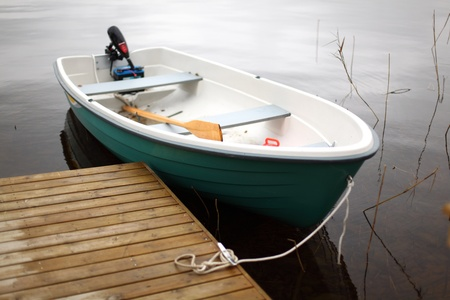boat in lake nature background Stock Photo - 9259091