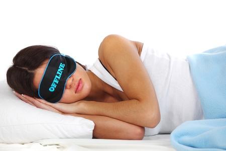 offline beauty woman sleep on the pillow photo
