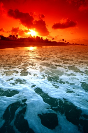 landscape ocean sunrice golden sky Stock Photo - 9344039