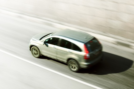 speed car drive blurred inmotion Stock Photo - 9411680