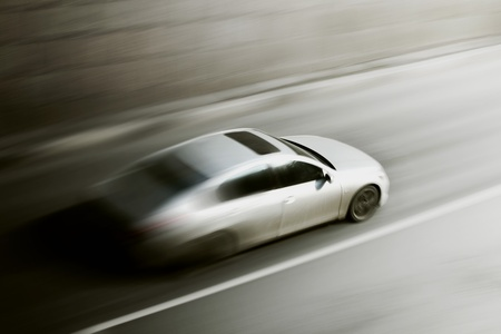 faster: speed car drive blurred inmotion Stock Photo