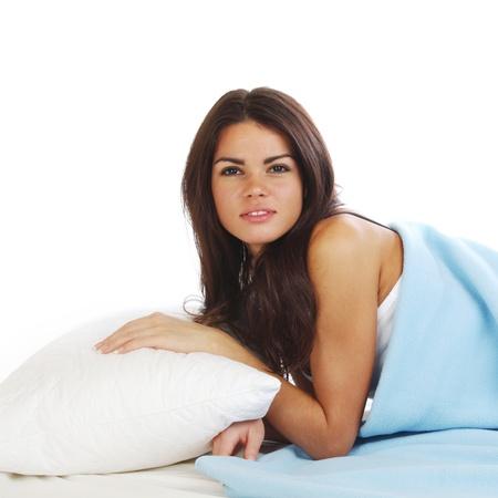 beauty woman sleep on the pillow Stock Photo - 9855470