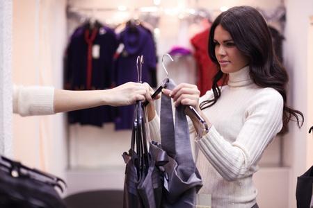 woman in dress room wear dress Stock Photo - 9860408