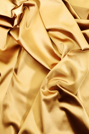 gold textile background close up Stock Photo - 9855390